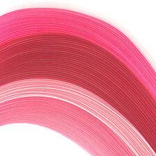 100 Quilling Autoadesivo Carta strisce in tonalità di rosa-larghezza 5mm