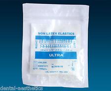 Ortodontiche FASCE ELASTICHE ~ senza lattice 3/16 6.5oz ~ pesante CHIUDI GAP elastici