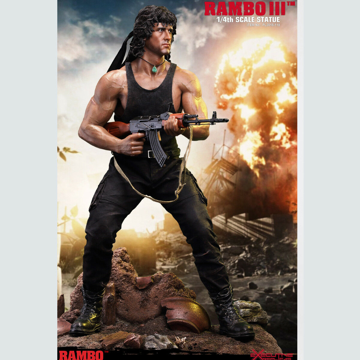 TBLeague 1 4 PL2018-118 Rambo Ⅲ Stallone First Blood Premium Statue Collectible