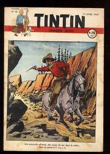 Journal-de-TINTIN-belgisch-1947-Nr-16-17-April-1947-Uberbekleidung-die-rallic