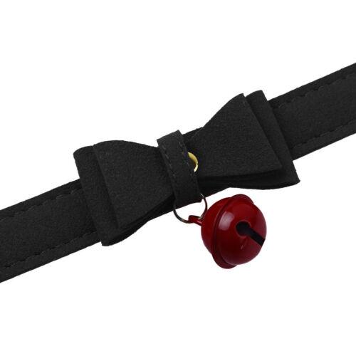 Moda Punk gótico de cuero PU con corbata de moño Cuello Collar Gargantilla Collar De Mujer De Campana