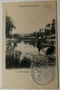 479-Antica-Cartolina-Estremo-Sud-Oran-Colomb-Bechar-Vista-da-L-Oued