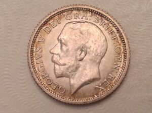 Great Britain 6 pence sixpence 1921 George V Wedding coin gift silver