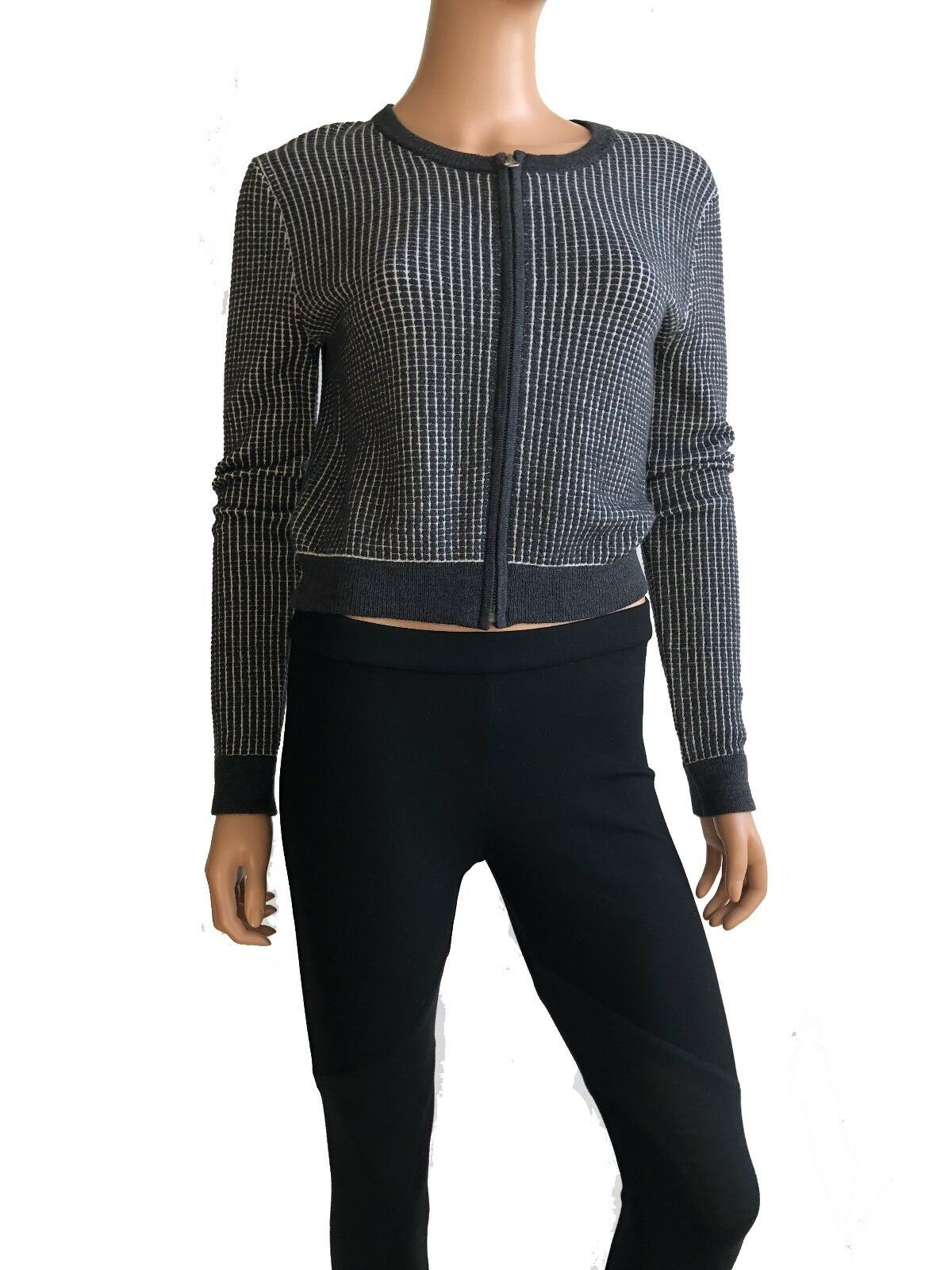 Haute Hippie Long Sleeve grau Sweater Größe M
