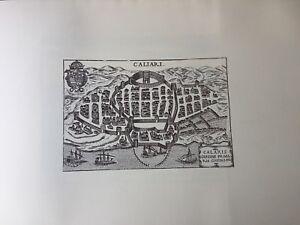 Cartina Geografica Di Cagliari.Cagliari Mappa Carta Geografica Antiche Citta Italiane Koller 1967 Ebay