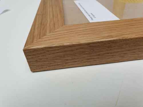 MODERN CHUNKY FLAT 33mm SOLID OAK PHOTOGRAPH//PICTURE FRAME TRADE PRICED