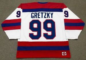 finest selection 43229 ea632 Details about WAYNE GRETZKY Indianapolis Racers K1 1978 WHA Vintage  Throwback Hockey Jersey