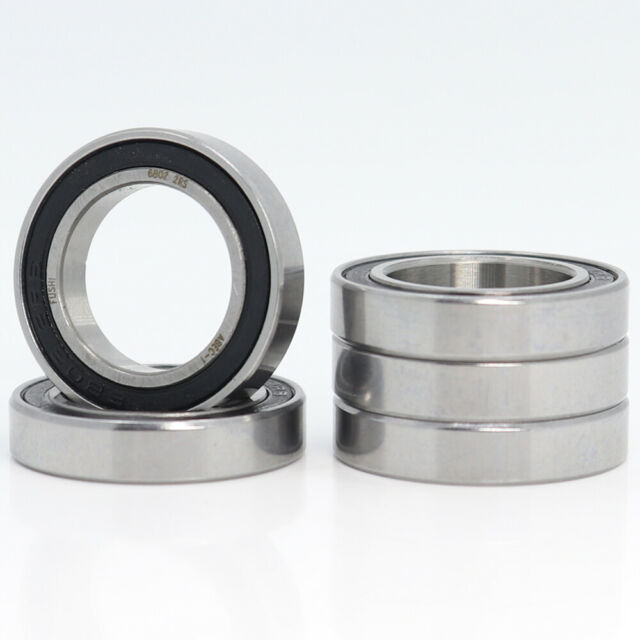 10PC 6802RS Bearing 15x24x5 mm ABEC-1 Thin Section 6802 RS 2RS Ball Bearings