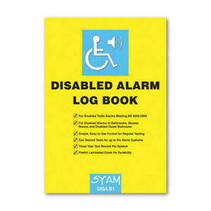 Image Is Loading Syam DIS LB1 Disabled Toilet Alarm Log Book