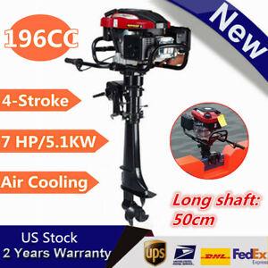 7HP-4-Stroke-Outboard-Motor-Tiller-Shaft-Boat-Engine-Water-Cooling-CDI-System-US