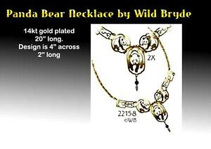 Gold Plated PANDA Necklace by Wild Bryde