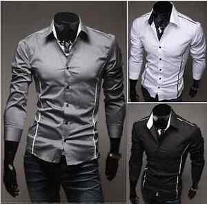 TREND-Herren-kurzarm-Shirt-3-Farbe-XS-L-Slim-Hemd-T-Shirt-Polo-Style-Hemd-NEU-19