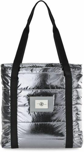 Gesteppte große Damen Tasche Shopper Bag City Handtasche silber