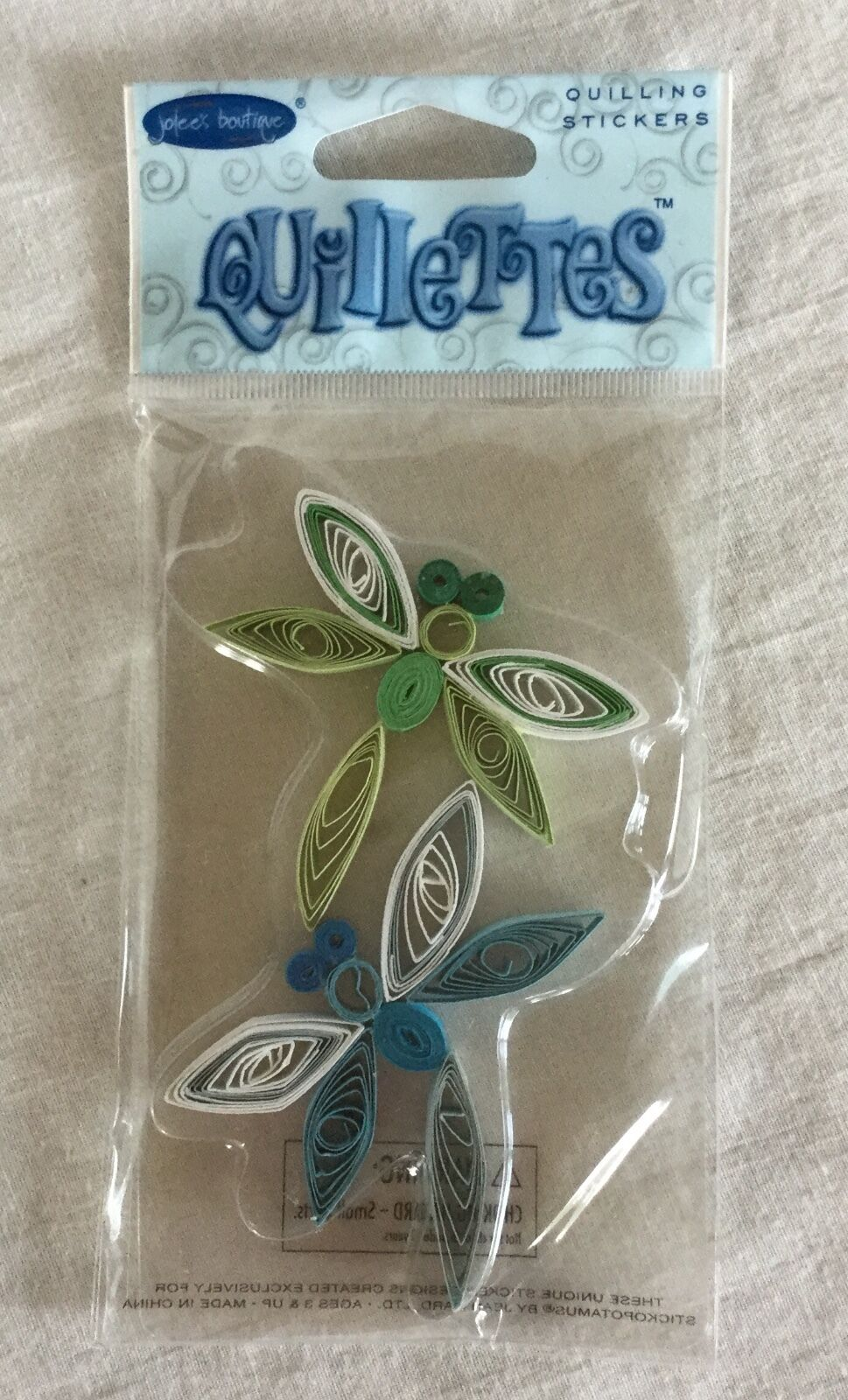 Quilled Lilies of the Valley  Embellishments 2 Pieces Jolee/'s Boutique NIP