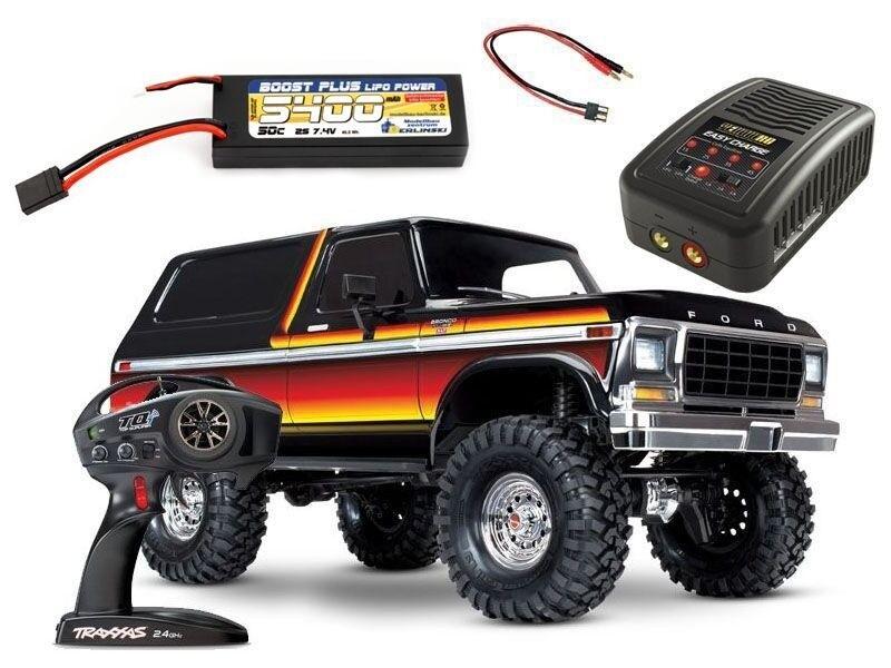 Traxxas trx-4 ford bronco XLT 1 10 Crawler rtr + 5400mah lipo de cargador + - 82046-4s1