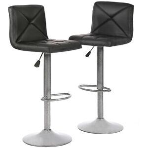 2-PU-Leather-Modern-Adjustable-Swivel-Barstools-Hydraulic-Chair-Bar-Stools-BT10