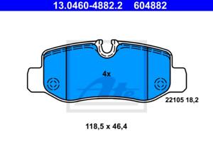 Scheibenbremse für Bremsanlage Hinterachse ATE 13.0460-4882.2 Bremsbelagsatz