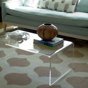 Tavolino Da Soggiorno Trasparente.Dettagli Su Plexycam Tavolino Trasparente In Plexiglass Da Salotto 70x33 H 40cm Spess 10mm