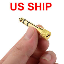 "SALE 6.5mm 1/4""Male plug to 3.5mm 1/8""Female Jack Stereo Headphone Audio Adapter"