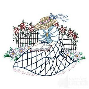 35 stroll in the garden designs for machine embroidery ebay for Garden embroidery designs free