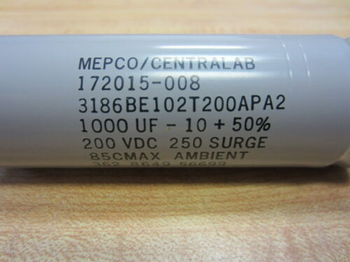 Details about  /Mepco//Centralab 172015-008 Capacitor 1000UF 200VDC 172015008