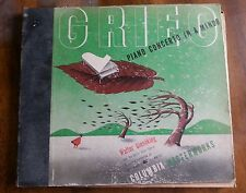 Walter Gieseking on 78 rpm Columbia Album MM-313 Grieg Piano Concerto in A minor