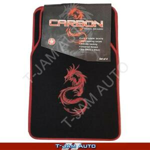 Carbon-Dragon-Red-Black-Carpet-Car-Floor-Mats-Nissan-Patrol-4WD