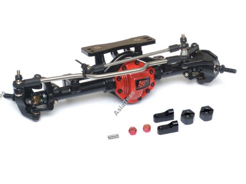 Boom Racing Assembled Scale PHAT Front Axle Version 2 Red RC4WD D90 D110
