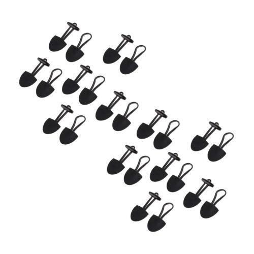 12 Leder Knebelverschluss Knebelknöpfe Knebel Drehknopf für Mantel Jacke