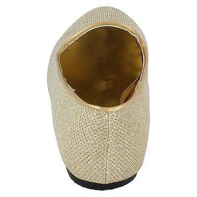 Cutie para niñas Purpurina Dorada Zapatos Sin Cordones h2243