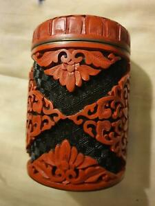Antique-Chinese-cinnabar-ming-dynasty-container