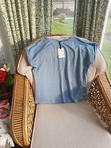 Blue Reiss Top Light shirt Metallic 10 14 L T Bnwts 12 SwqI7nxS4