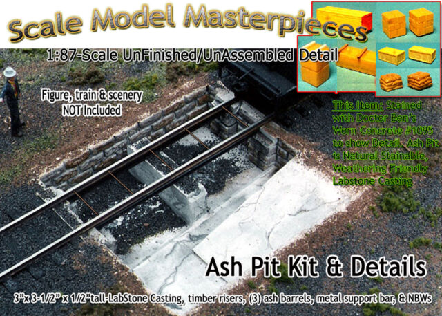 Ash Pit /& Details Kit for Roundhouse-yorke Fine Scale Model MasterPieces HO for sale online