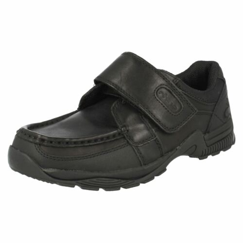 Boys StartRite School Shoes In Black Leather /'Lewis/'