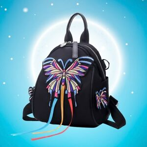 a81455c32698 Image is loading New-Women-Embroidery-Crossbody-Multi-Backpack-Women-Purse-