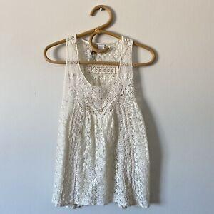 Large-Ladies-Mimi-Chica-Creamy-Ivory-Sleeveless-Crochet-Blouse-Top