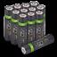 miniature 65 - Rechargeable Haute capacité AAA/AA Batteries Et 8-Way dock de chargement-Venom