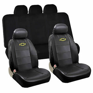 Image Is Loading 6pcs Chevy Chevrolet Front Low Back Seat Cover