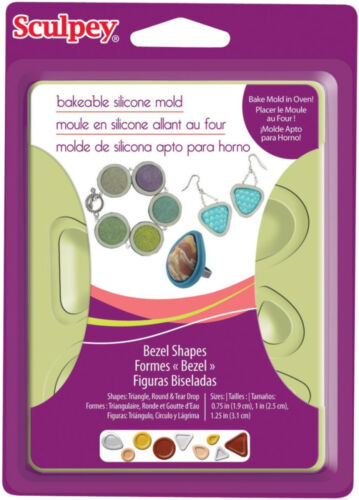 Sculpey Bakeable Silicone Mold  Jewelry Bezel Shapes Set Bake Mold in Oven