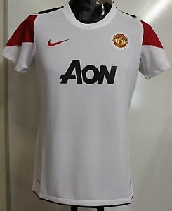 reputable site 2acc3 3447c Details about MANCHESTER UNITED 2010/11 WOMEN'S S/S AWAY SHIRT BY NIKE SIZE  XL BRAND NEW
