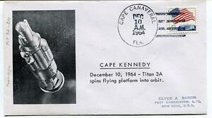 1964 Tian 3a Spins Flyinf Platform Orbit Cape Kennedy Canaveral Usa Sat Space