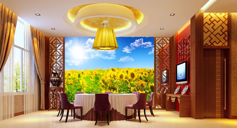 3D 3D 3D Bright Sunflowers 7 Wall Paper Murals Wall Print Wall Wallpaper Mural AU Kyra f49aea