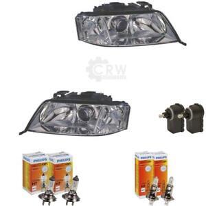 Headlight-Set-for-Audi-A6-4B-C5-01-97-01-05-Incl-Philips-Incl-Motor