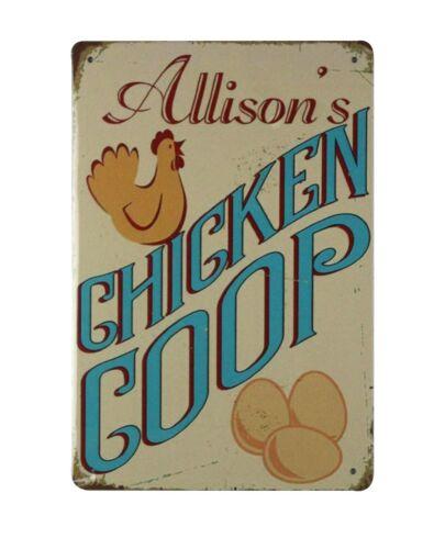 living wall decor Allison/'s Chicken Coop tin metal sign US SELLER