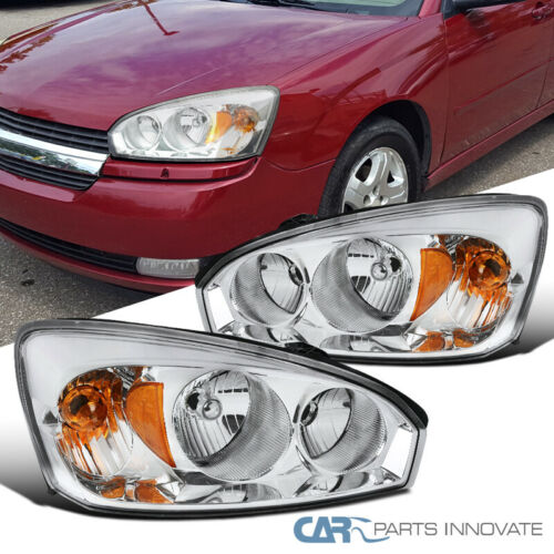 For 04-08 Chevy Malibu Clear Headlights Driving Lights Head Lamps Headlamps Pair