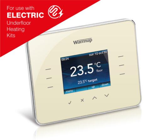 Warmup 3ie Tactile Thermostat Numérique Avec Énergie Gestion Classique Crème