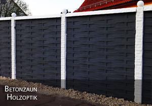Betonzäune 1m zaun betonzaun holzoptik gartenzaun zäune betonzäune