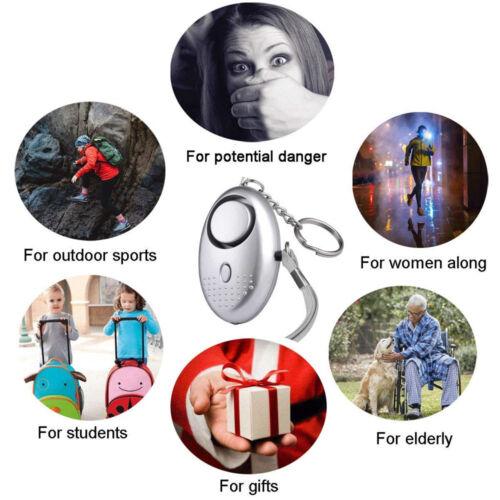 Personal Notfall-Alarm Schlüsselanhänger LED Sicherheitsalarm für Kinder Frauen