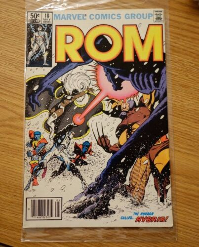 ROM SPACEKNIGHT #18 1981 MARVEL WOLVERINE & XMEN APPEARANCE
