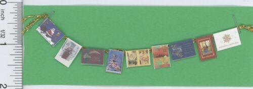 Dollhouse Miniature 1:12 Scale Holiday Christmas Card Garland by Amy Robinson